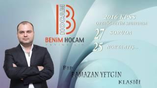 2016 Kpss Orta Öğretim Sınavında 27 Soruda 25 Nokta Atış