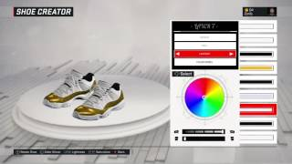 nba 2k17 shoe creator air jordan 11 low closing ceremony