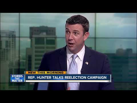 Rep. Duncan Hunter talks gun control, re-election plans on 10News
