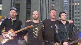 "Live performance of the song ""Adventure Of A Lifetime"" during the Coldplay concert on Rockefeller Plaza, NYC on March 14, 2016. Filmed by myself."