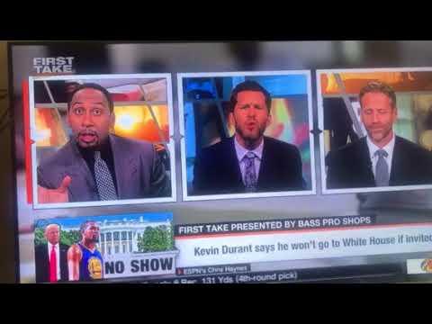 ESPN First Take - 8/18/17 - Kevin Durant, Charlottesville & President Trump