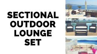 Sectional Outdoor Lounge Set - Patio Furniture