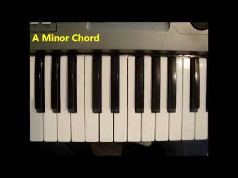 How To Play An A Minor Chord Am A Min On Piano And Keyboard Youtube