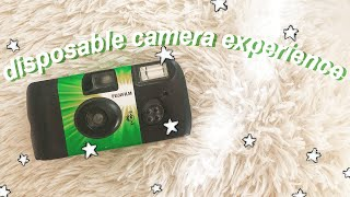 disposable camera experience + pictures! ☆