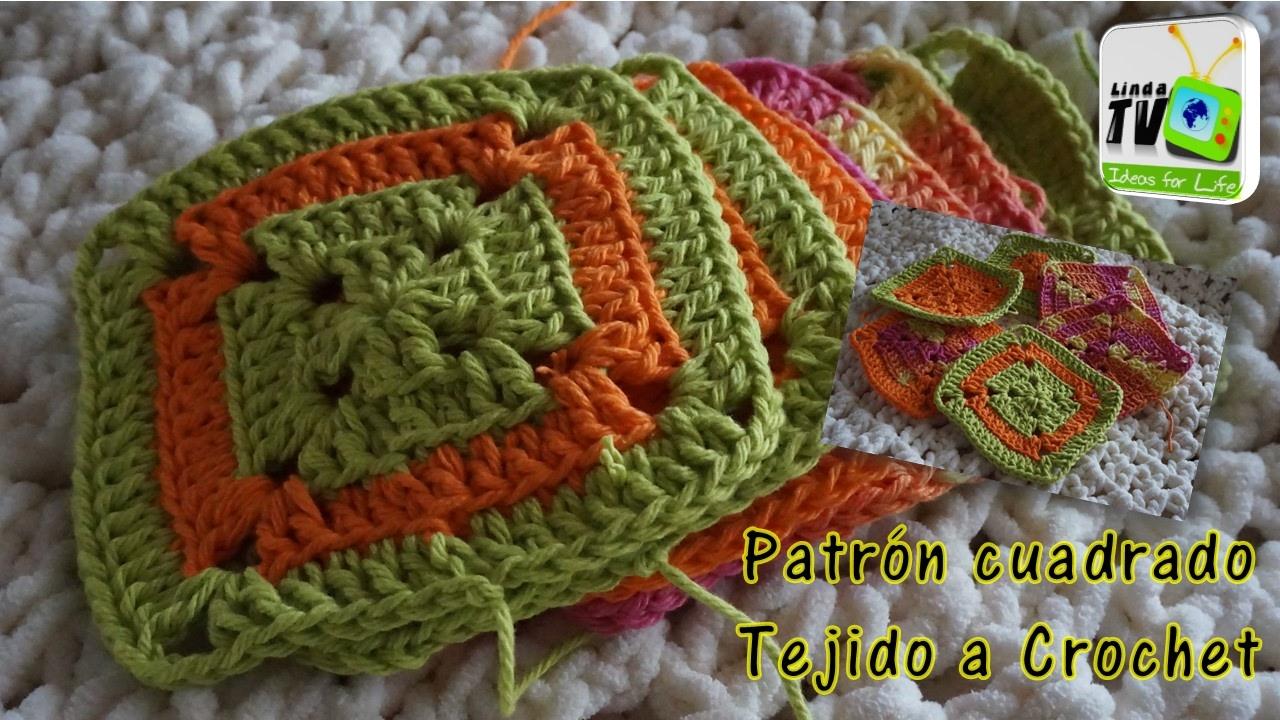 PATRÓN CUADRADO TEJIDO A CROCHET - YouTube