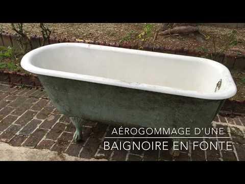 Aérogommage Dune Baignoire En Fonte Youtube