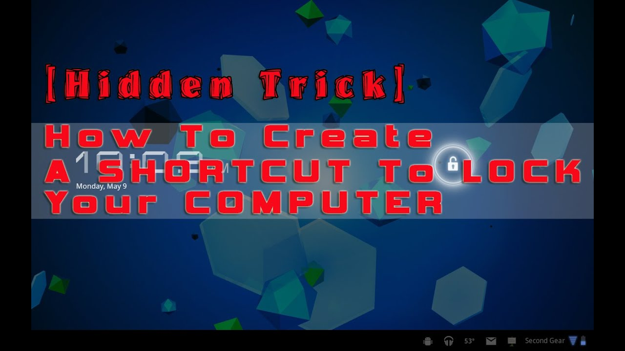 Hidden Trick How To Create A SHORTCUT LOCK Your Computer