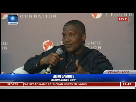 Business Mogul Dangote Charges 2017 TEF Cohorts To Showcase Themselves To The World