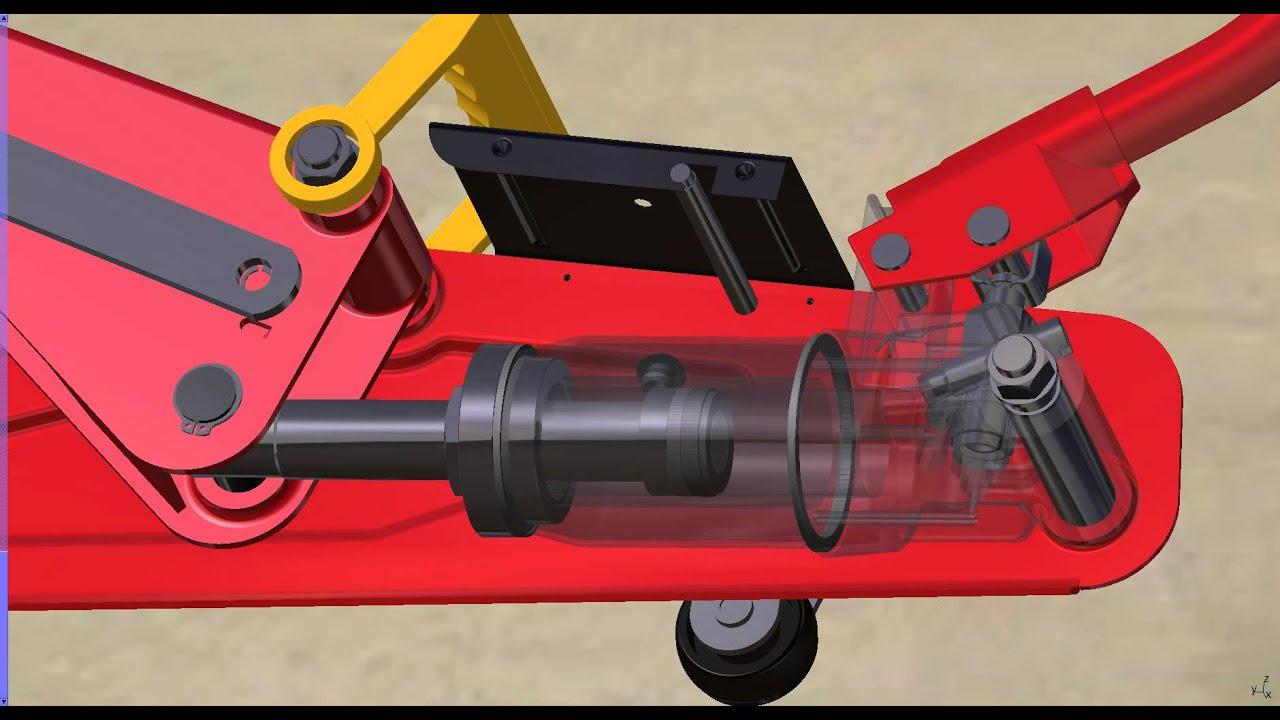 Design of car jack -  Car Jack Cad Projekt Hochschule Ulm 2012