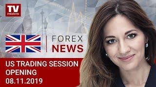 InstaForex tv news: 08.11.2019: CAD slumps against firm USD (USDХ, CAD, EUR, JPY)
