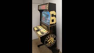 Toronto Raptors Wall Mount Arcade Machine with Raspberry Pi, Steam PC and more!