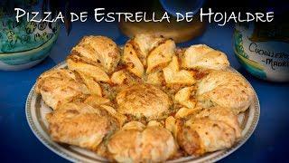 Pizza de Estrella de Hojaldre para Fiestas o Cumpleaños y Eventos
