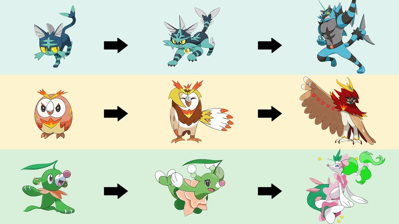 All Gen 7 Starters Evolution Type Swap Fanart Pokemon Type Swap 52 Youtube