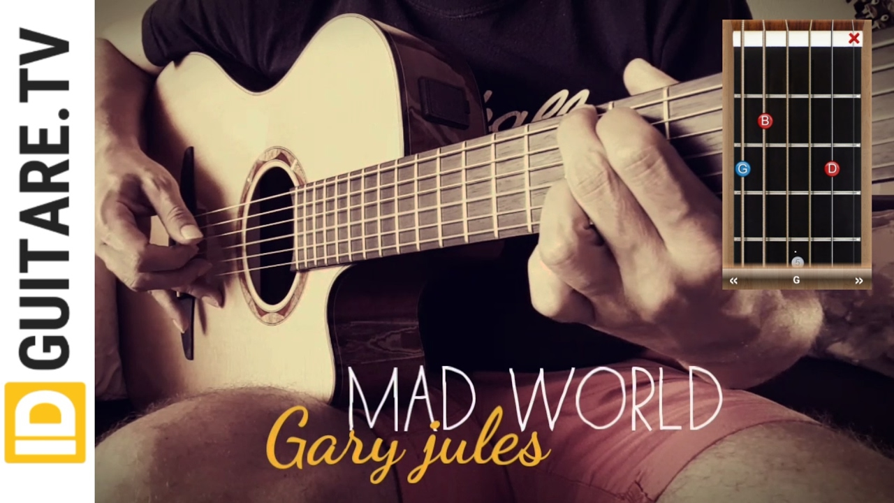 Mad World Gary Jules Acoustic Guitar Cover Chords