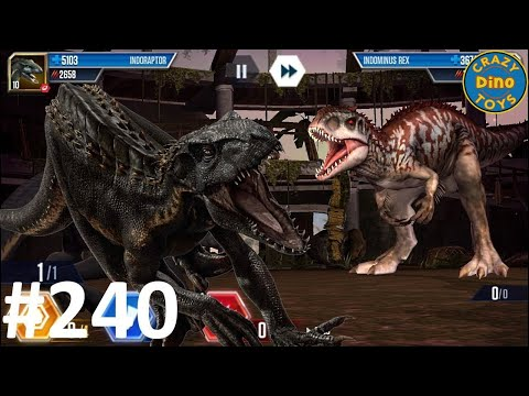 INDORAPTOR VS INDOMINUS REX!! Jurassic World The Game EP240 Ludia 4,000 SDNA