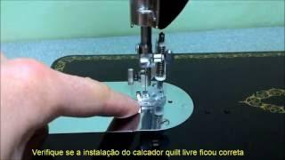 Como instalar o calcador de quilt livre na máquina de costura Singer 15C