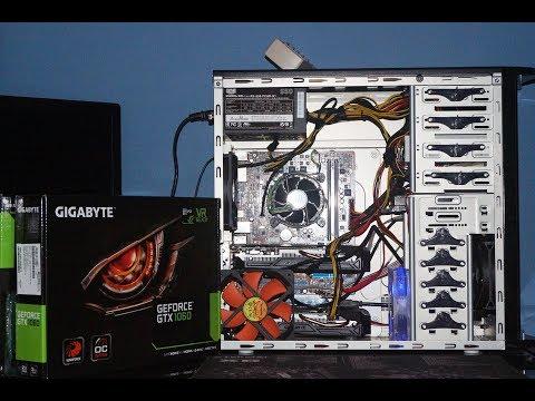 Simple 2 Card GTX 1060 3gb Ethereum Mining Rig.