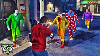 GTA 5 ZOMBIE CLOWN TOWN TERROR | Playing Capture in Clown Zombie-Infested City | GTA V Funny Moments