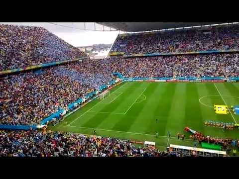 Himno de Uruguay en el Arena Corinthians de San Pablo