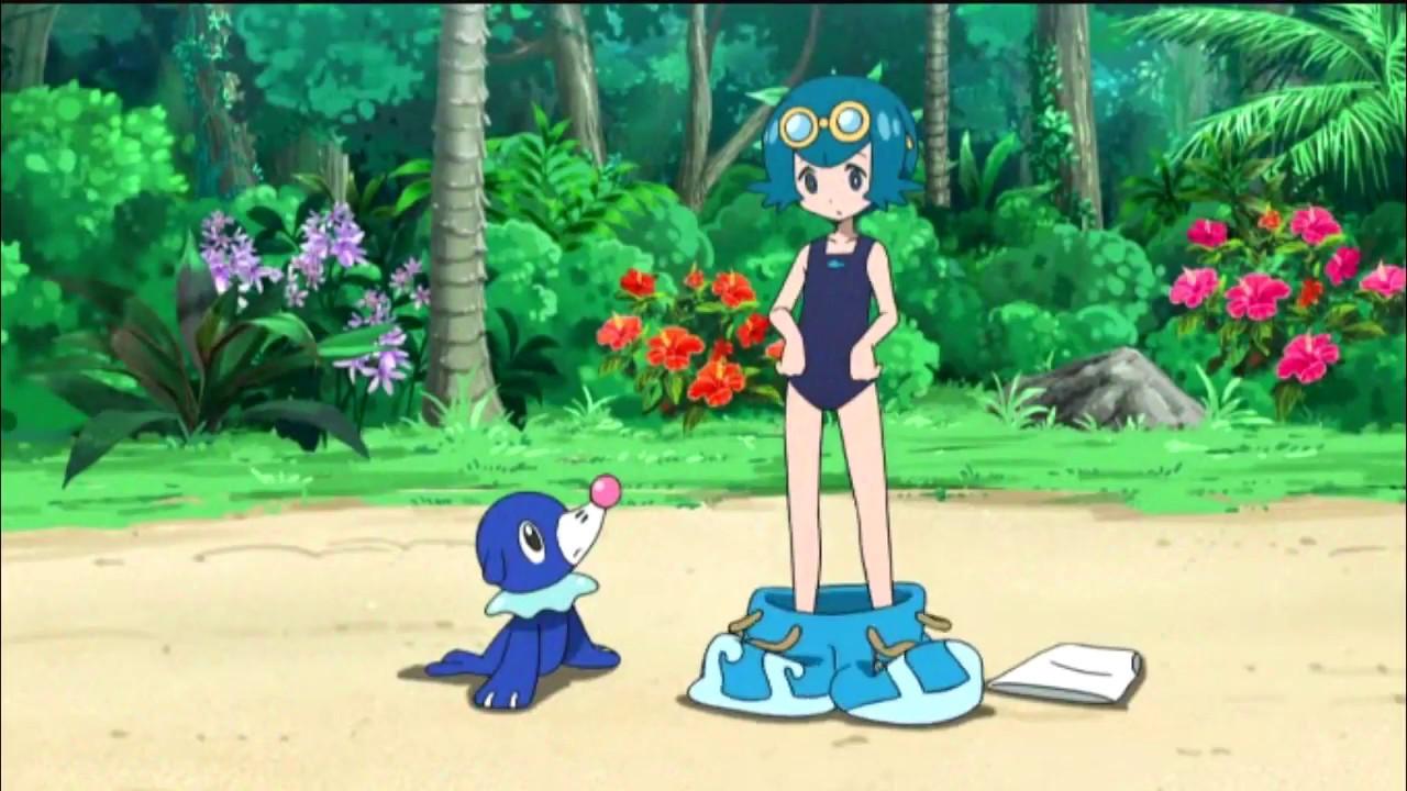 f3d766527be3f Pokémon Sun   Moon Series  Suiren (Lana) Undresses for a swim. - YouTube