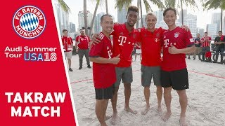 Takraw-Pro-Players vs. Coman & Rafinha - 2v2 Footvolley Match | #AudiFCBtour