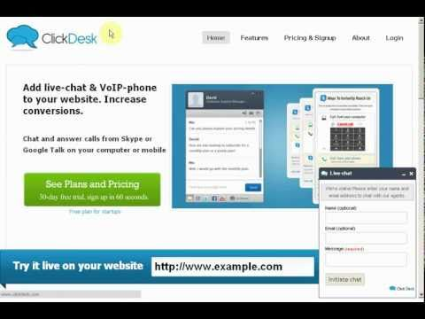 Clickdesk - Live Chat - Tutorial