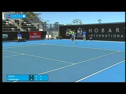 Roberta Vinci vs Olivia Rogowska: Full-match replay (1R) - Hobart International 2015