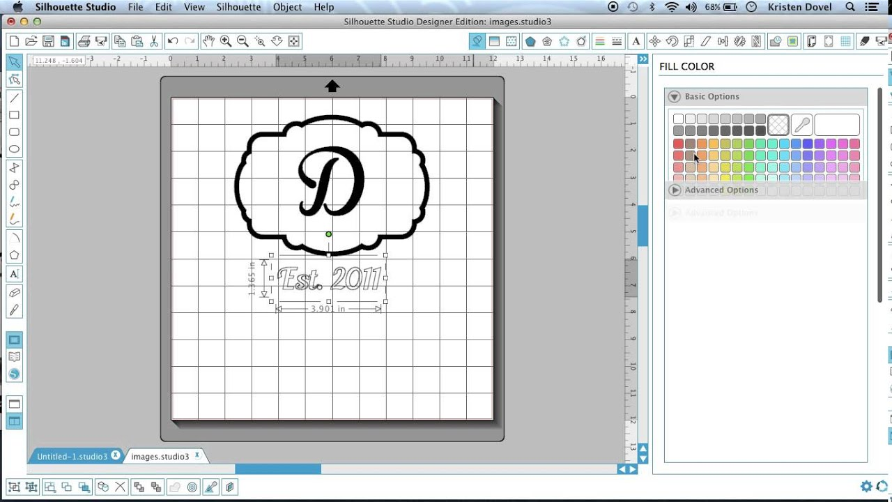 Creating a design in silhouette design studio Garden Flag PART 1
