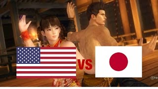 DOA5LR English Vs Japanese Voice Comparison - TAG EDITION! - (Part 3 - Chinese Martial Artists)