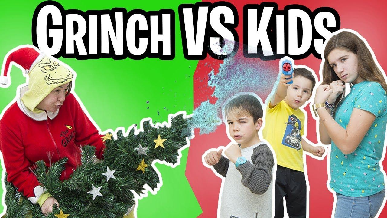 El Grinch Destroza Nuestra Casa Familukis Grinch Vs Kids