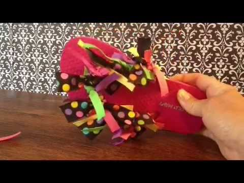 36b56cc9d719 How to make Ribbon tie know flip flops - YouTube