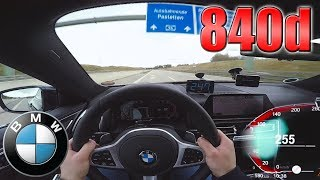 BMW 840d xDrive pushing on German Autobahn ✔