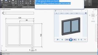 AutoCAD draw 2D 3D Sliding Window