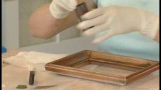 Making Picture Frames Look Old : Painting The Base Coat For Aging A Picture Frame