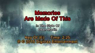 Dean Martin - Memories Are Made Of This (Backing Track)