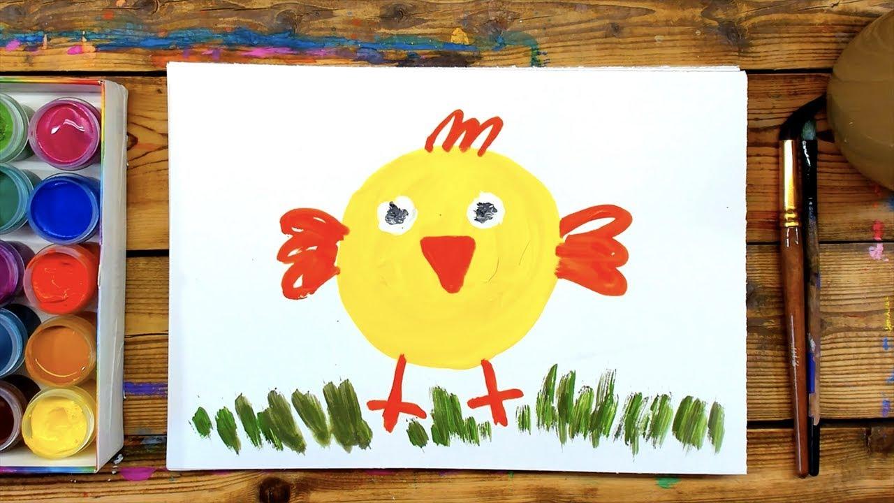 Веселый рисунок красками с ребенком 4 года, сентября для детей