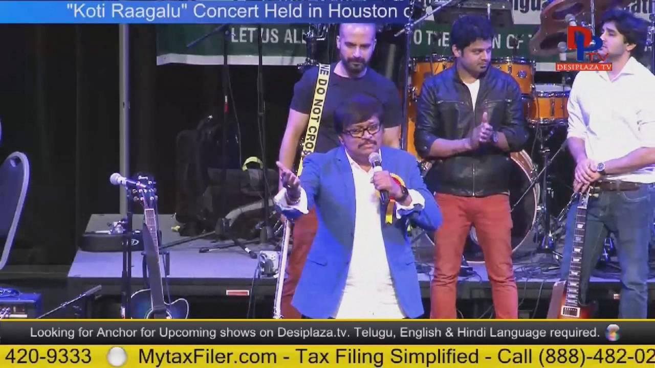 Kotigaru singing old melodies at Telugu Bhavanam-Fundraising-Houston