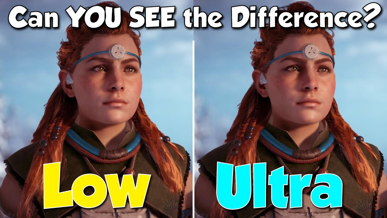 Horizon Zero Dawn | Ultra vs. Low | Can YOU see the Difference?