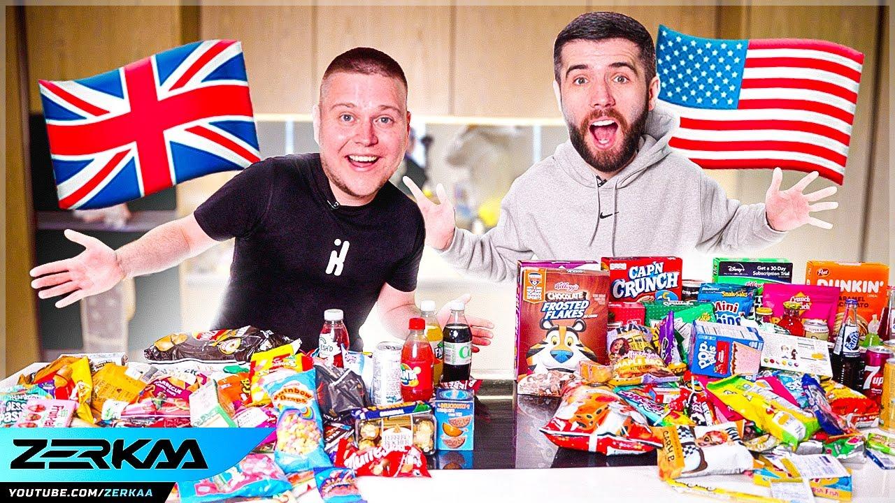 UK vs USA SNACKS FOOD CHALLENGE!