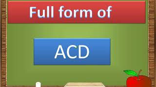 Full form of ACD