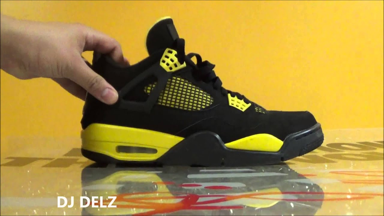 a94586c30aceaf Air Jordan Thunder 4s IV Sneaker 4 Detailed Review + On Foot With  DjDelz