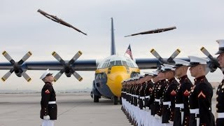 "USMC Silent Drill Platoon & Blue Angels C-130 ""Fat Albert"""