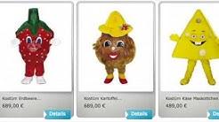 Obst & Gemüse Kostüm Maskottchen Lauffiguren : Kaufen oder Verleih : Produktion Herstellung   Mask
