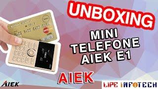 AIEK E1 Mini telefone single chip desbloqueado e com player de música #Unboxing