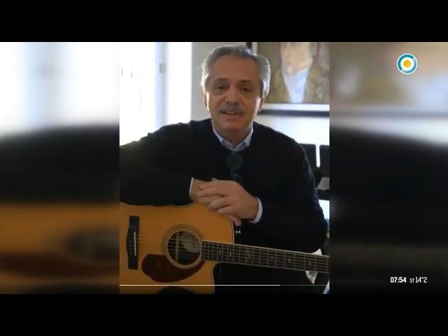 Presidente Argentino Tocando Guitarra   Alberto Fernández   Mensaje COVID-19 - ¿Qué te parece?