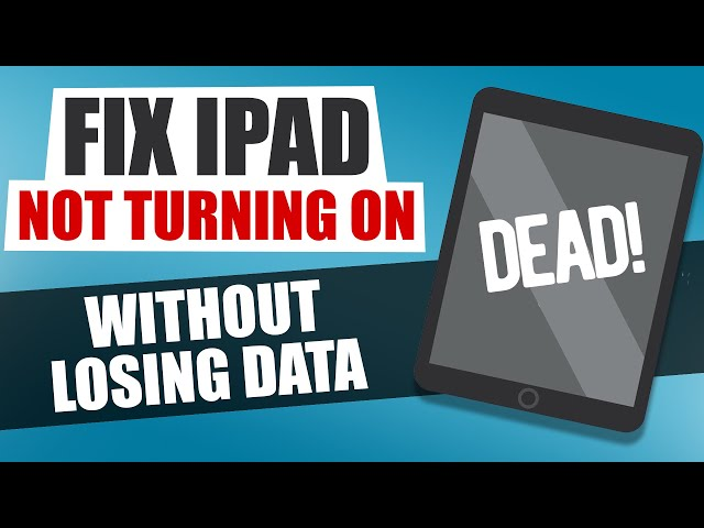 iPad Won't Turn On? Fix it NOW Without Losing Data | iPad not Turning On | iPad fix