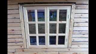 видео Как сделать окно из дерева самостоятельно