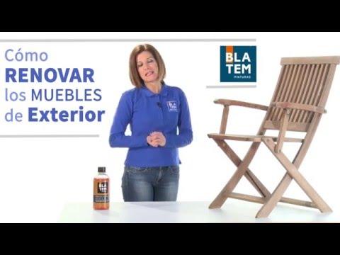 Renovar los muebles de exterior con Aceite de Tk - YouTube
