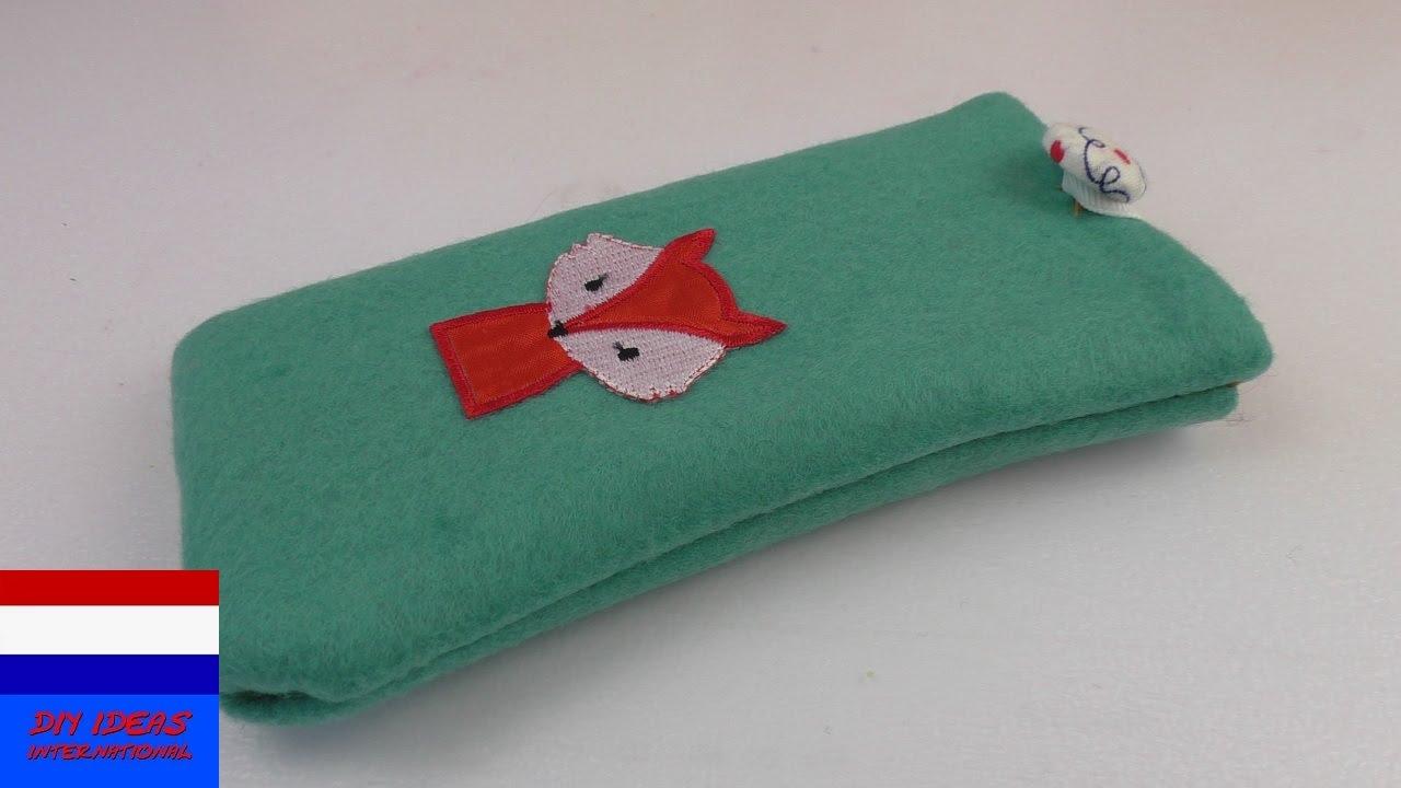 Super telefoonhoesje met vosje naaien | tutorial – doe het zelf - YouTube @XY63