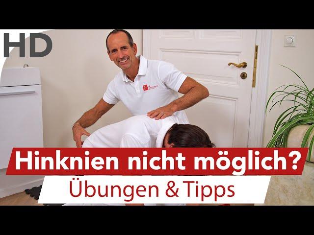Knieschmerzen // Hinknien nicht möglich? Einfache Übungen für das Knie